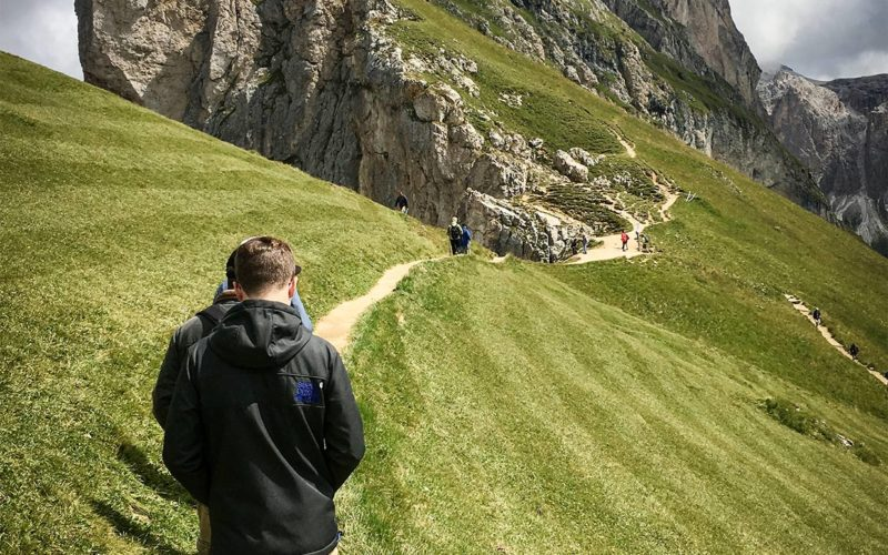 Walk from the Seceda cable car