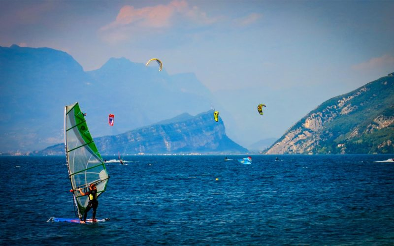 Water sports on Lake Garda