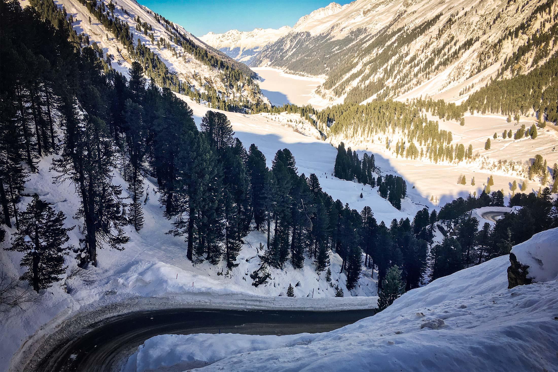 Glacial Road Snow Road