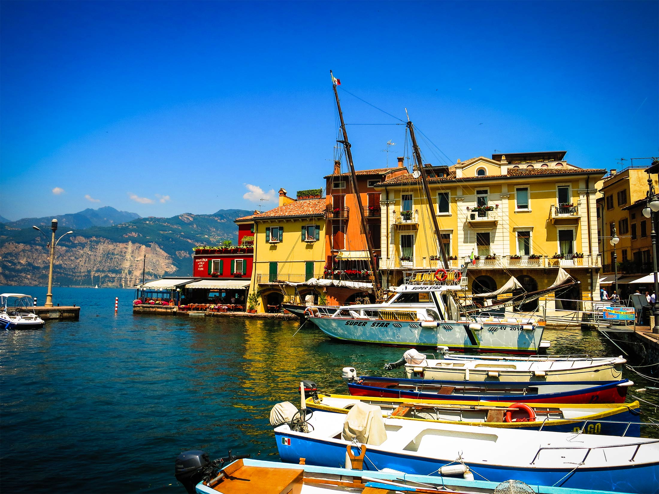 Lake Garda Harbour Boats
