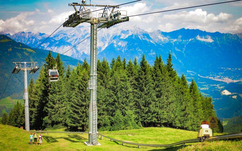 Alpine summer toboggan