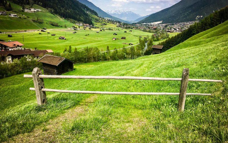 Stubai Valley looking towards Innsbruck
