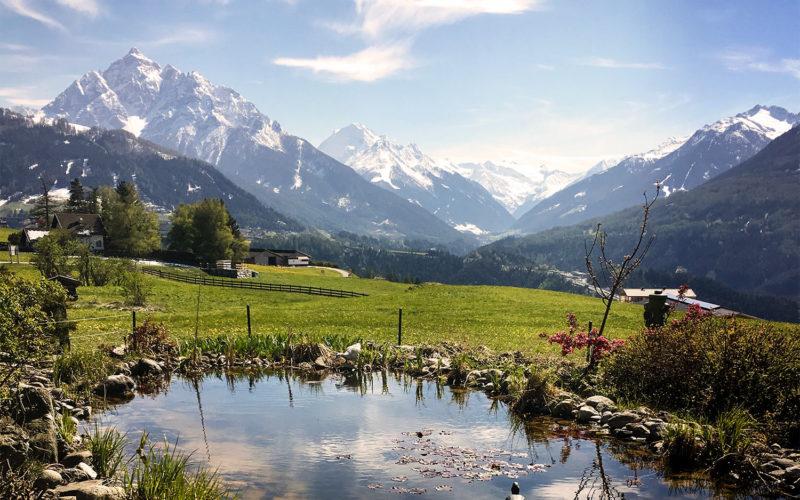 View towards the Stubai valley